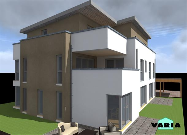 neubau eines modernen 4 familienhauses in langenfeld reusrath varia kg. Black Bedroom Furniture Sets. Home Design Ideas