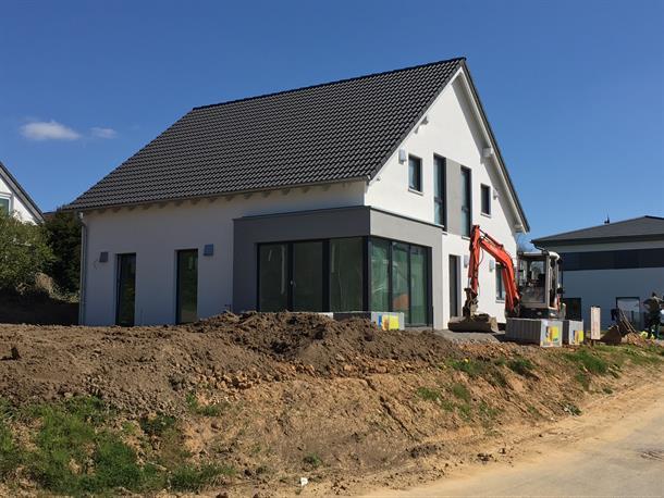 Das Letzte Haus Im Neubaugebiet Heddinghofener Straße Kurz Vor  Fertigstellung